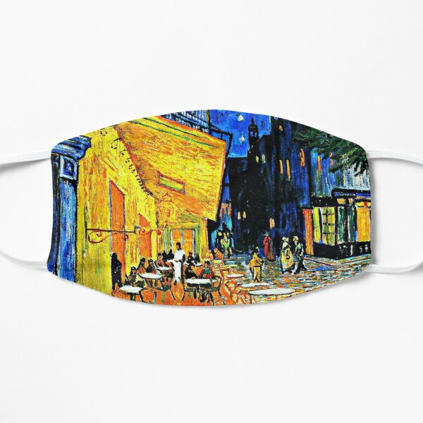 Van Gogh - Cafe Terrace, Place du Forum, Arles Flat Mask