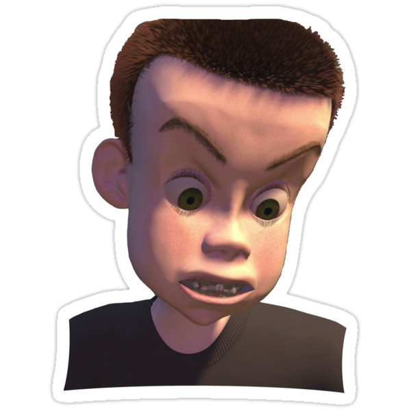 """Sid (Toy Story)"" Stickers by Mrlagare456 