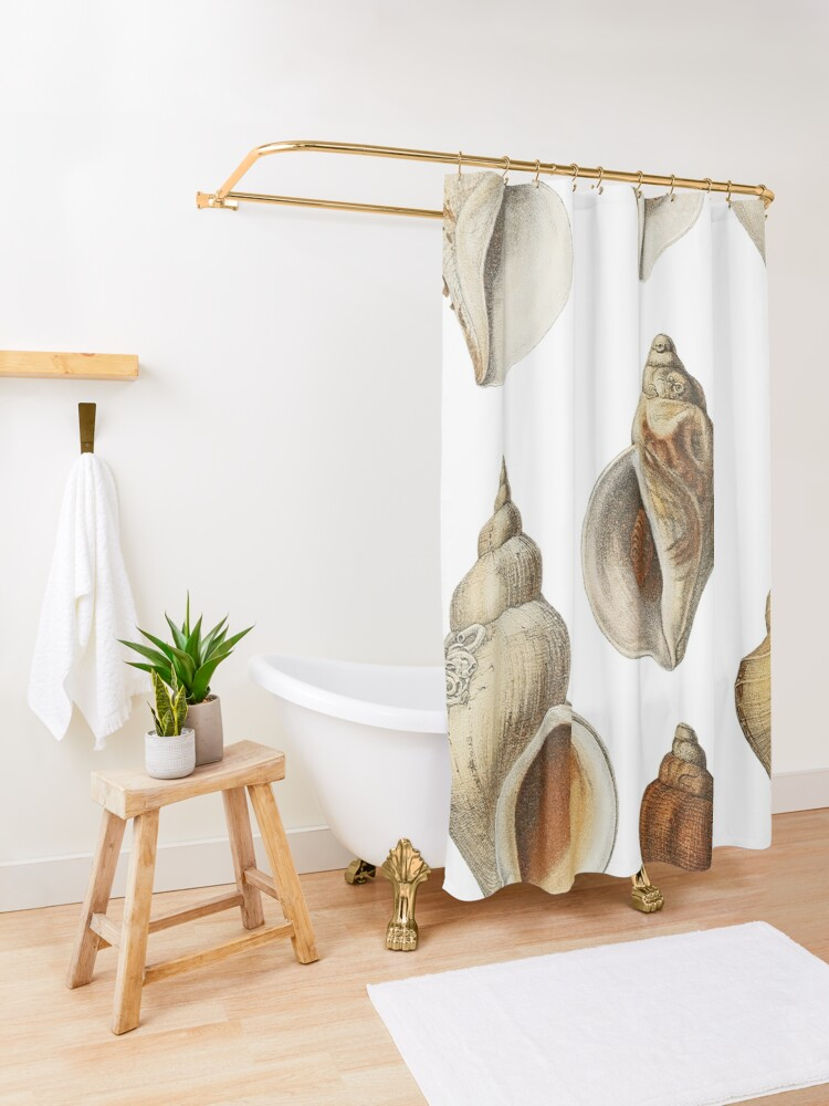 Alternate view of White Molluscs of the Northern Seas Shower Curtain