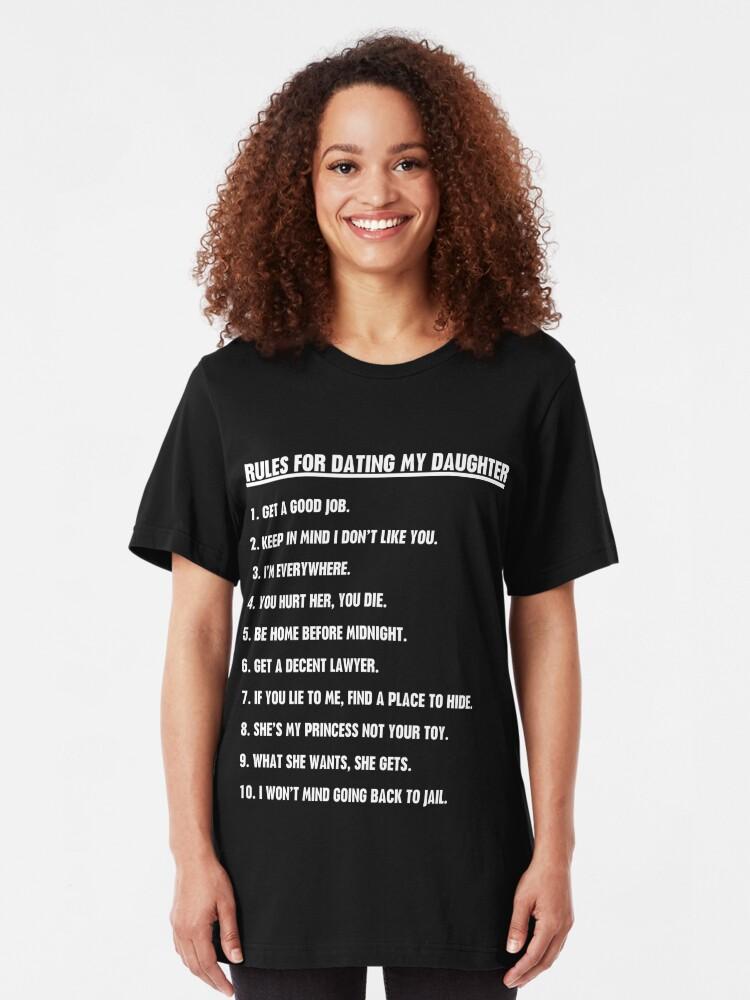 t shirts règles pour sortir avec ma fille meilleur site de rencontres 50