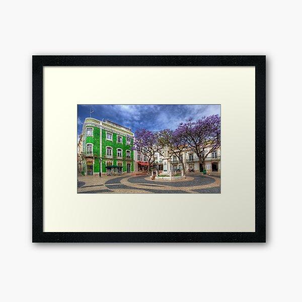 Jacaranda Square Lagos Framed Art Print