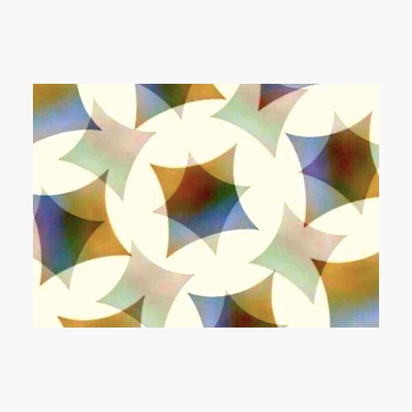 Kaleidoscopic astroid shapes pattern Photographic Print