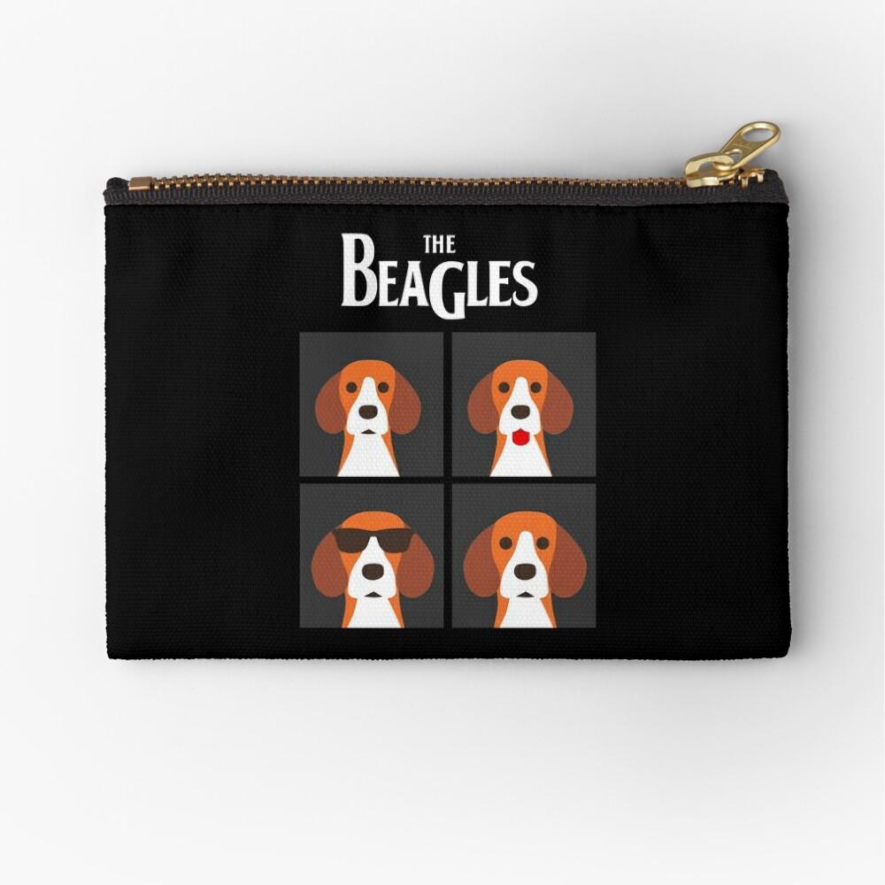 the beagles black Zipper Pouch