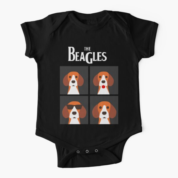 the beagles black Short Sleeve Baby One-Piece