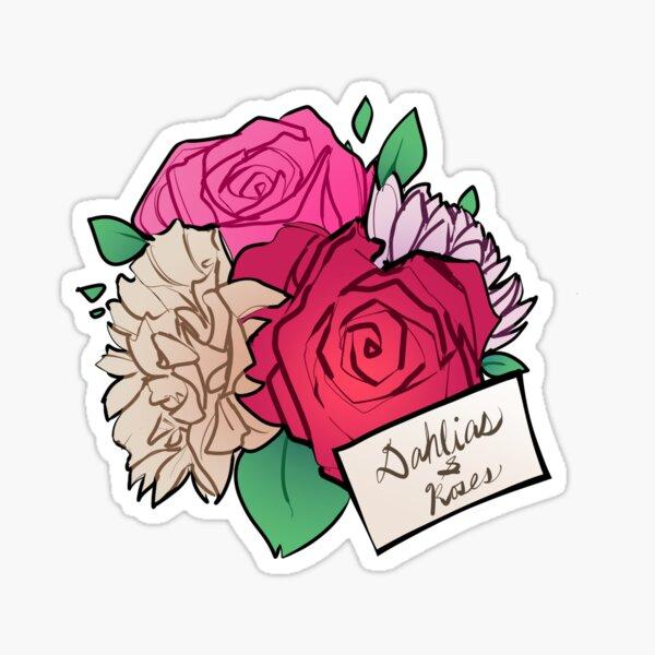 Dahlias & Roses Sticker