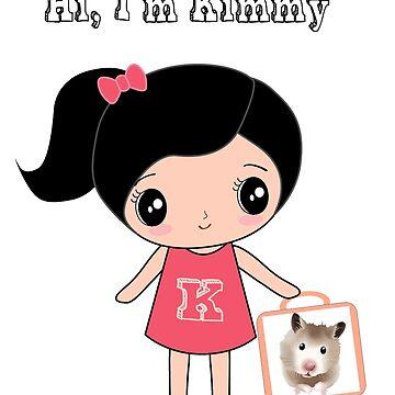 Women T-Shirt Hi I'm Kimmy with lovely Hamster by happiimii