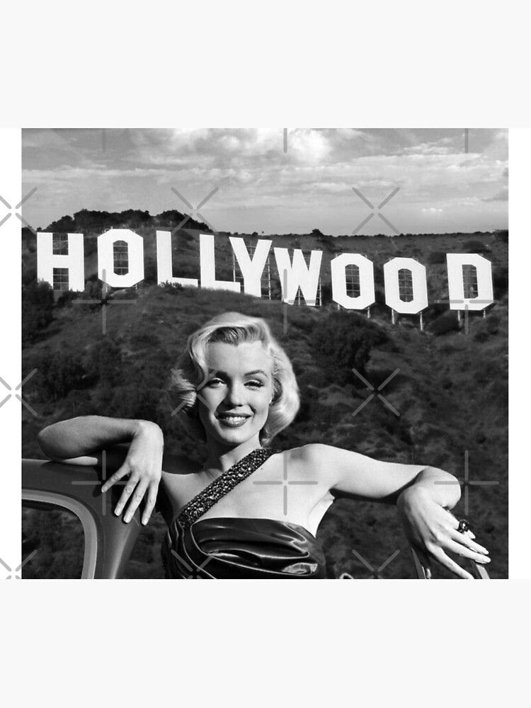 Marilyn Monroe Hollywood Black and White by Luna7