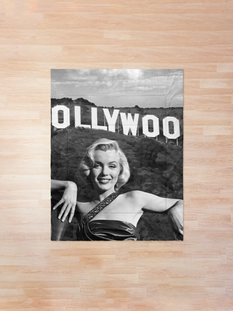 Alternate view of Marilyn Monroe Hollywood Black and White Comforter