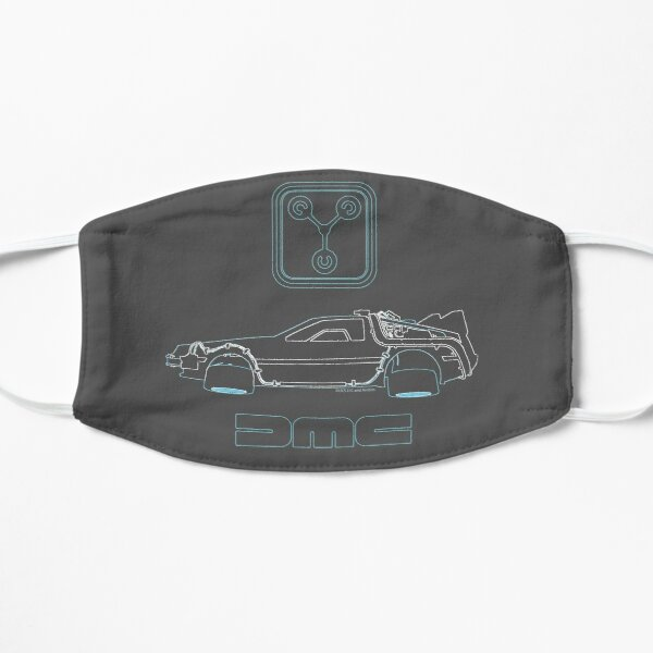 Delorean and Flux Capacitor - Back to the Future Mask