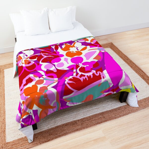 Paradise Pink with Teal Comforter
