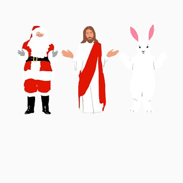Santa/Jesus/Easter Bunny by kittinfish