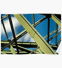 Girders and sky Poster