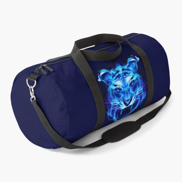 Blue fire tiger head  Duffle Bag