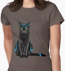 My black cat is a pokemon ! Women's Fitted T-Shirt