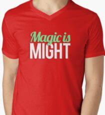 Magic is Might Mens V-Neck T-Shirt
