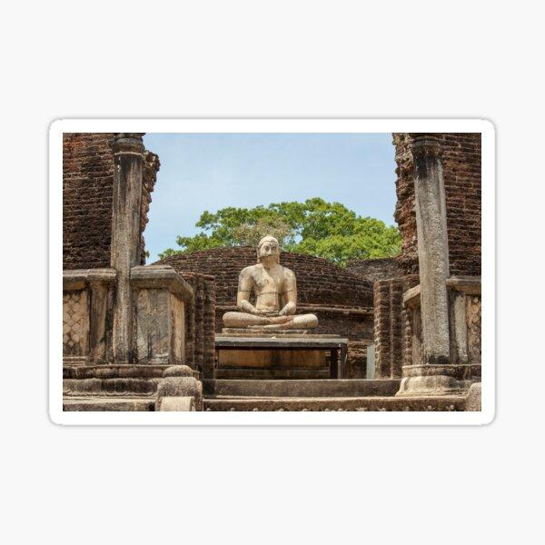 Buddha statue in Polonnaruwa, Sri Lanka Sticker