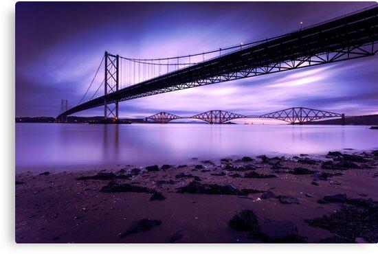 Forth Road & Rail Bridge at Sunrise by PhilipCormack