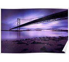 Forth Road & Rail Bridge at Sunrise Poster