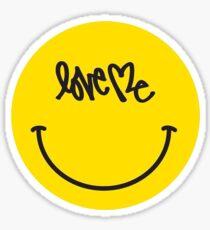 Love Me Smiley Face Sticker