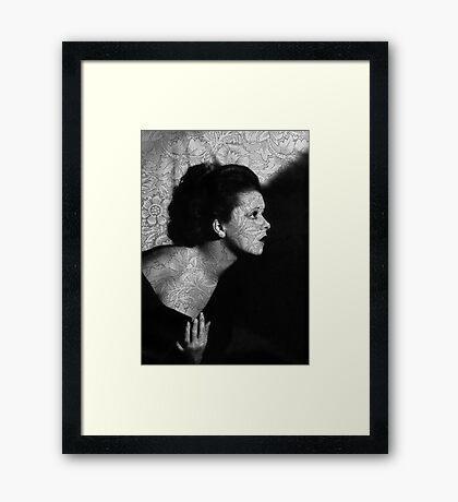 The Clara Bow Tattoo Framed Print