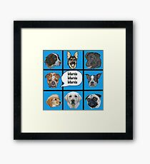 Silly dogs spoof  Framed Print