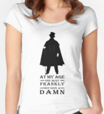 At my age one must frankly not give a damn Women's Fitted Scoop T-Shirt