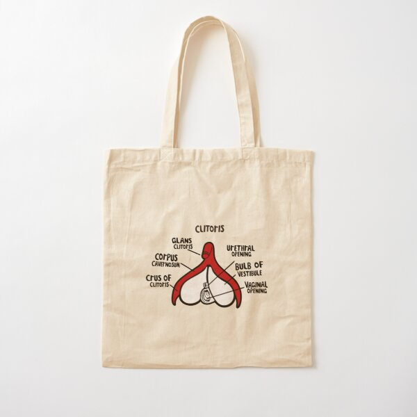 clitoral anatomy Cotton Tote Bag