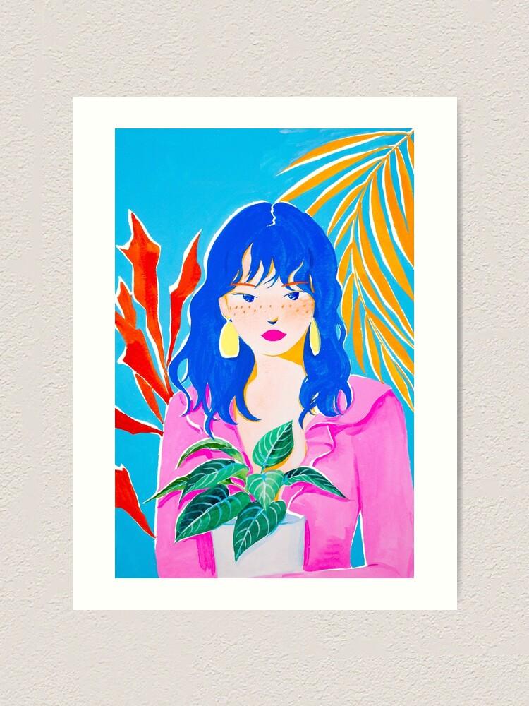 Alternate view of Plant Girl Art Print