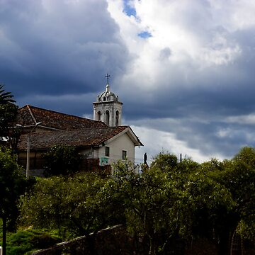 Wicked Skies Over Del Carmen Church by alabca