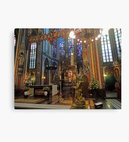 Gold & Glorious: Amsterdam Chruch at Christmas Canvas Print