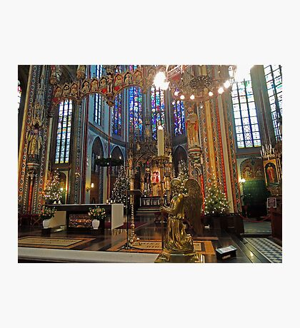 Gold & Glorious: Amsterdam Chruch at Christmas Photographic Print