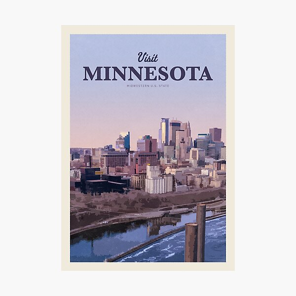 Visit Minnesota Photographic Print