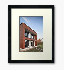 wooden building  Framed Print