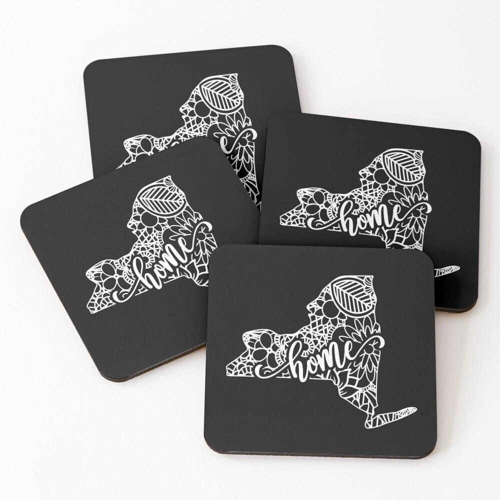 New York State Mandala Coasters (Set of 4)