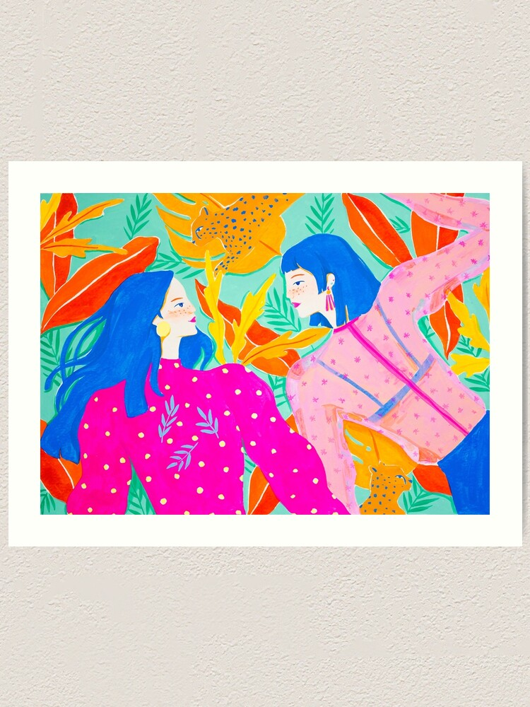 Alternate view of Hanging out In Garden Art Print