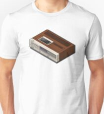 Vintage Woodgrain VCR Unisex T-Shirt
