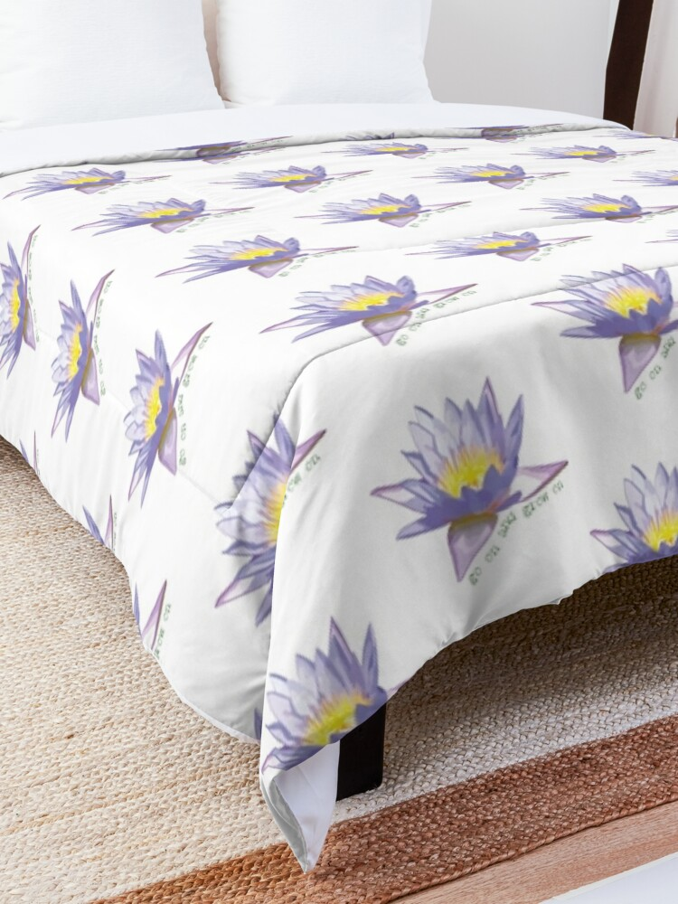 Alternate view of go on and grow on | floral graphic Comforter