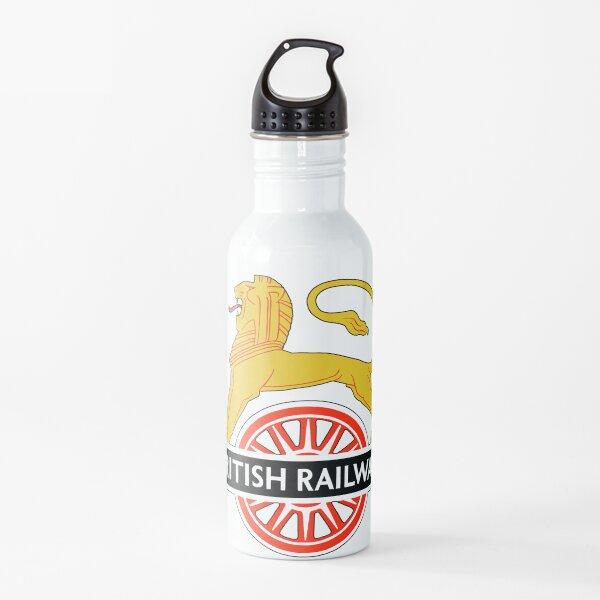 BRITISH RAILWAYS. BR. SIGN. On White. First logo. British Railways. Cycling Lion. Water Bottle