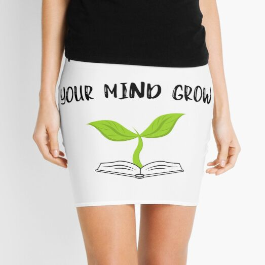 Reading Helps Your Mind Grow Mini Skirt