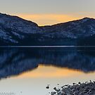 Donner Lake Sunset on Christmas Eve 2013 by David Galson