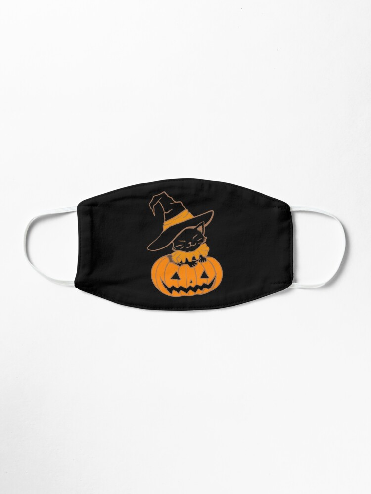 Alternate view of Pumpkin Kitty Mask