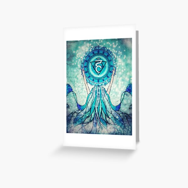 I Speak : Vishuddha Chakra Greeting Card