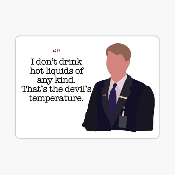 Kenneth Parcell The Devil's Temperature Sticker