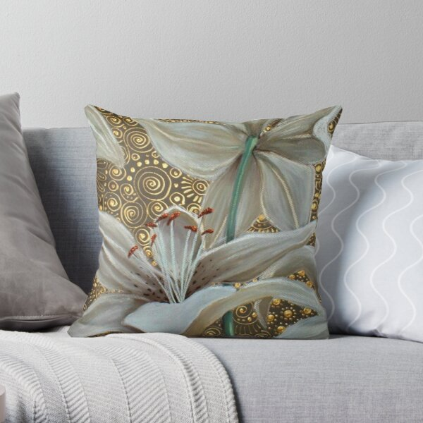 Lilies on Parade Throw Pillow