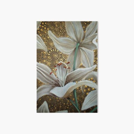 Lilies on Parade Art Board Print