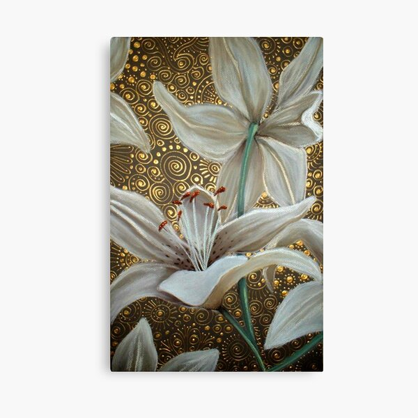 Lilies on Parade Canvas Print