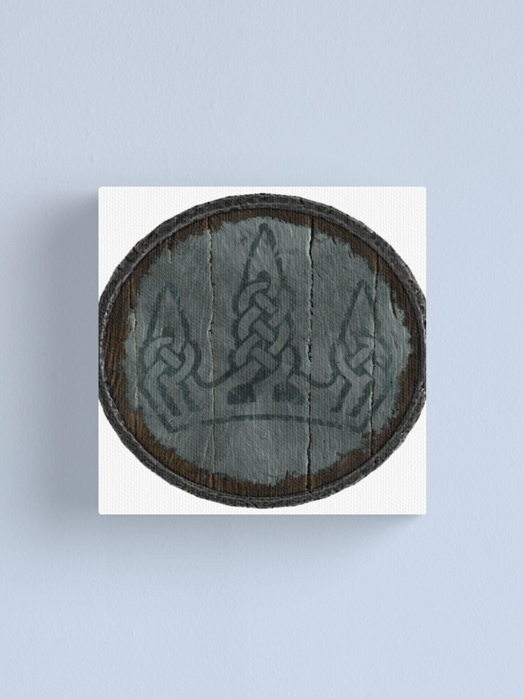 Alternate view of  Winterhold Logo (Hold guard shield logo) Canvas Print