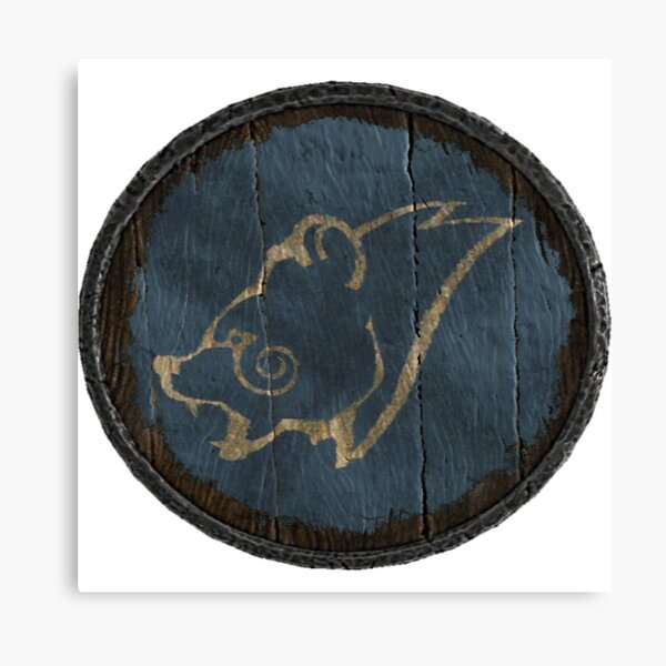 Windhelm and Eastmarch Logo (Hold guards shield) Canvas Print