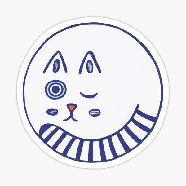 Round Cat Sticker