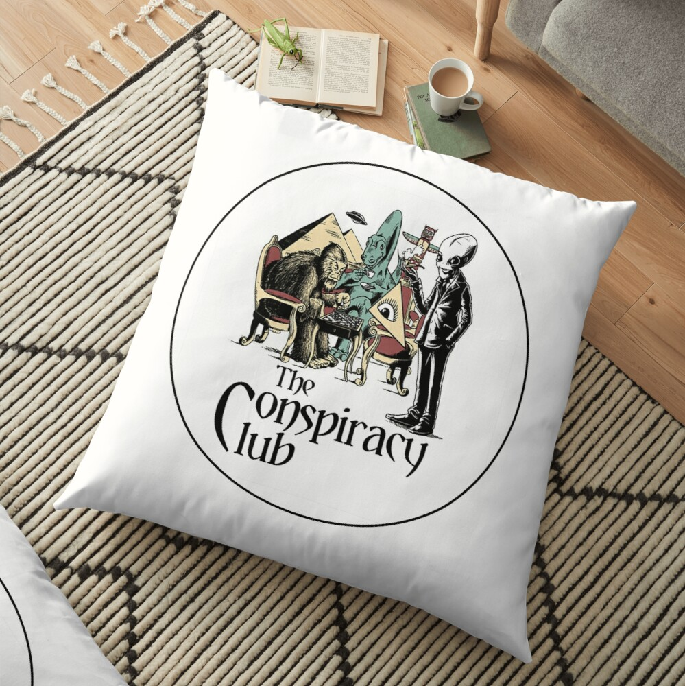 The Conspiracy Club Floor Pillow